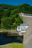 The reservoir and hydraulic power plant Royalty Free Stock Image