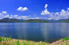Reservoir. Irrigation system from Mae-ngad dam in Thailand , Asia royalty free stock photo