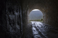 Reservoir Jandula, tunnel excavated in the mountain of granite and slate in the reservoir of Jandula Royalty Free Stock Photography
