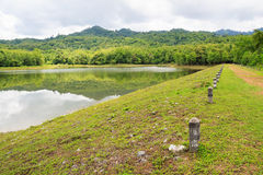 Reservoir at Jedkod Pongkonsao Natural Study and Ecotourism Cent Royalty Free Stock Image