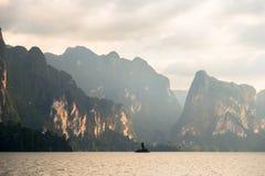 Reservoir Khao Sok Stock Afbeeldingen