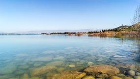 The reservoir La Sotonera. Royalty Free Stock Image