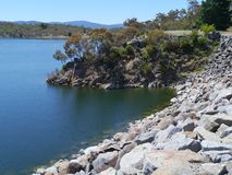 The reservoir lake of Jindabyne Royalty Free Stock Photos