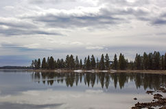 Reservoir Lake Reflections Stock Photography