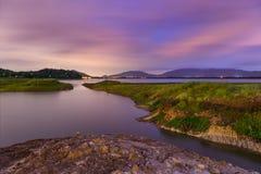 Reservoir landscape in Chonburi Royalty Free Stock Photo