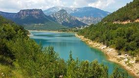 Reservoir Llosa Del Cavall Stockbild