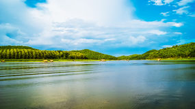 Reservoir. In loei Thailand for relaxation Royalty Free Stock Images