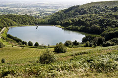 Reservoir at malvern hills, worcestershire royalty free stock photo