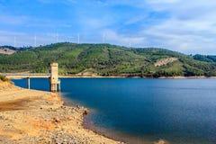 The reservoir of Meimâo, Beira Baixa, Portugal. Royalty Free Stock Image