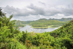 Reservoir in the mountain. In Thailand Royalty Free Stock Images
