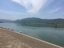 Reservoir-Nanchang rich Great Dyke. Nanchang rich Great Dyke,It is water conservancy facilities, and it is also a resort of leisure tourism Royalty Free Stock Photos