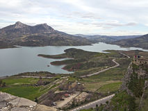 The reservoir near Zahara de la Sierra Royalty Free Stock Image