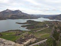 The reservoir near Zahara de la Sierra Royalty Free Stock Image