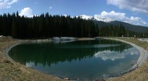 Reservoir onder bergen Royalty-vrije Stock Afbeeldingen
