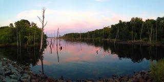 Reservoir-Panorama Lizenzfreies Stockbild