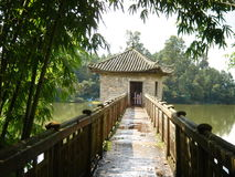 Reservoir ,pavilion Royalty Free Stock Photography