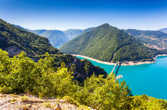 Reservoir. The Piva Canyon with its fantastic reservoir. Montenegro, Balkans, Europe. Beauty world Royalty Free Stock Image