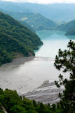 Reservoir sedimentation. The end of the Reservoir with a lot of sand Royalty Free Stock Images
