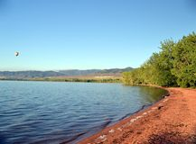 Reservoir Shore Line. Shore Line of local reservoir stock photo
