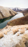 Reservoir Snake River Canyon Cold Frozen Snow Winter Travel Land Royalty Free Stock Photography