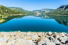 Reservoir in Spain Stock Photography