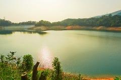 The reservoir sunset landscape Stock Image