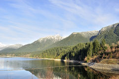 Reservoir surrounded by beautiful mountains Royalty Free Stock Photography