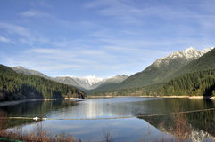 Reservoir surrounded by beautiful mountains Royalty Free Stock Image