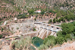 Reservoir Tajo de la Encantada on river Guadalhorce, Malaga prov Stock Photography