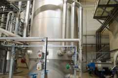 Reservoir tanks sludge digester storage dry biogas Stock Photography