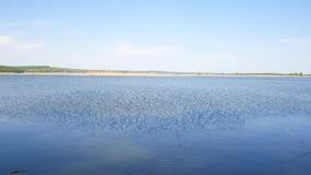 Reservoir in Ukraine, a simple landscape. Reservoir in Ukraine a simple landscape stock footage