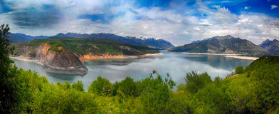 The reservoir in Uzbekistan Royalty Free Stock Images