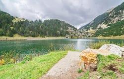 Reservoir of Vall de Nuria Royalty Free Stock Photos