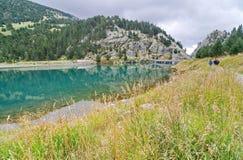 Reservoir of Vall de Nuria Royalty Free Stock Photo