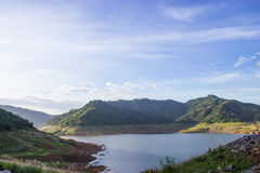 The reservoir is between the valley. In Nakhon Nayok, Thailand Royalty Free Stock Photos