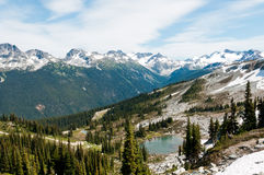 Reservoir on Whistler Mountain Stock Image