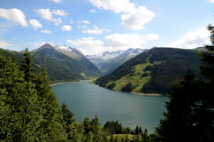 Reservoir in Zillertal Stock Foto's