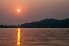 Reservoir in zonsopgangmening Stock Afbeelding