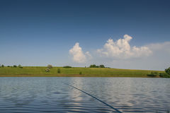 Reservoire und Feld Shelterbelts stockfoto