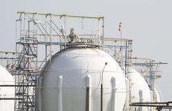 Reservoirs aardgas stock afbeelding