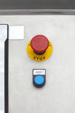 Reset Button. And Emergency Stop Push Button Royalty Free Stock Image