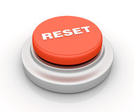 Reset Button. Three dimensional illustration of Red Button  With Reset Word Stock Images