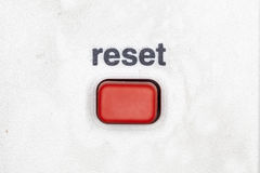 Reset button. Very sharp macro picture Royalty Free Stock Photos