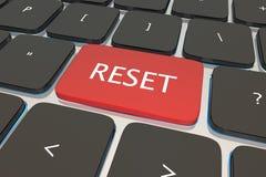 Reset Computer Keyboard Key Button. Restart Again 3d Illustration Stock Photos