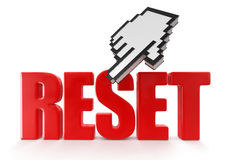 Reset  and cursor (clipping path included) Royalty Free Stock Photos