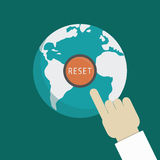 Reset the earth Royalty Free Stock Photos