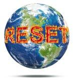 Reset postawy dla planety ziemi obraz royalty free