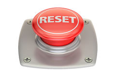 Reset red button, 3D rendering. Reset red  button, 3D rendering isolated on white background Royalty Free Stock Image