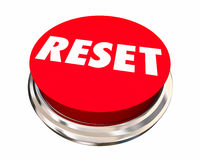 Reset Start Over Fresh Change New Beginning Button Royalty Free Stock Photography