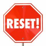 Reset Stop Sign Start Over Begin Again Fresh. 3d Illustration vector illustration